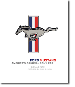 Front cover of Ford Mustang - America's Original Pony Car book with full color Ford Mustang logo